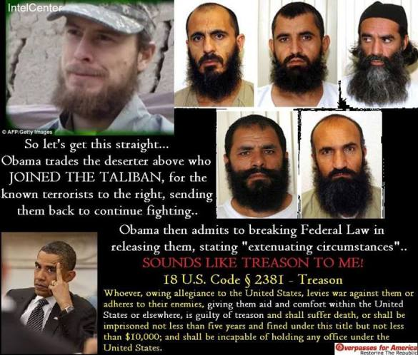 Rewarding deserters. Rewarding terrorists. Is this the New World Order? Will the last one leaving America please turn off the lights....