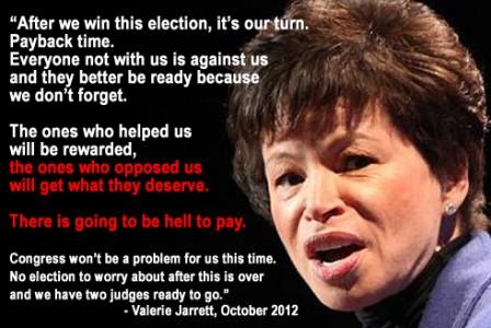 Photo via http://www.americanconservativedailynews.com/wp-content/uploads/2014/11/valerie-jarrett.jpg